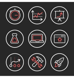 Set of engine optimization icons vector