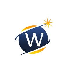 swoosh logo letter w vector image vector image