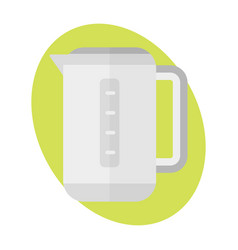 Teapot icon kitchen beverage hot sign kettle food vector