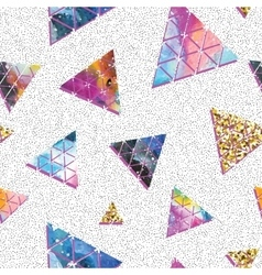 Triangular space design Abstract ornament vector image