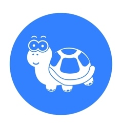 Turtle black icon for web and mobile vector image vector image