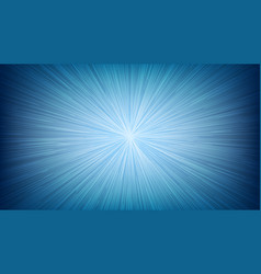 white light speed line burst ray on blue vector image vector image