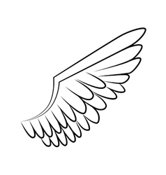 Wing bird animal angel icon graphic vector