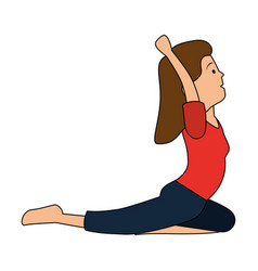 woman practicing exercise character vector image