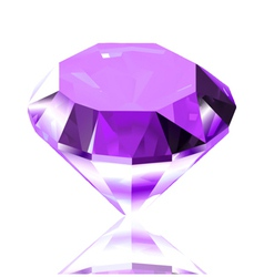 Violet diamond vector