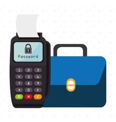 Dataphone password money secure vector