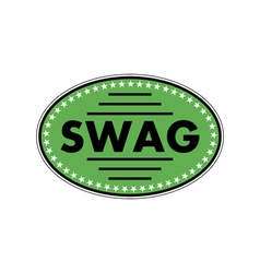Green sticker swag vector