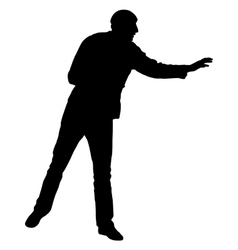Black silhouettes man on white background vector