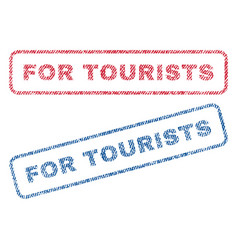 For tourists textile stamps vector