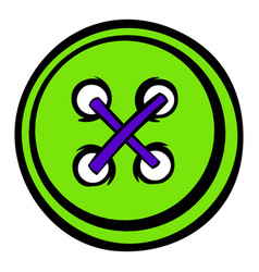 sewing button icon icon cartoon vector image