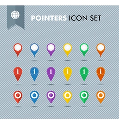Pointers icons set eps10 file vector