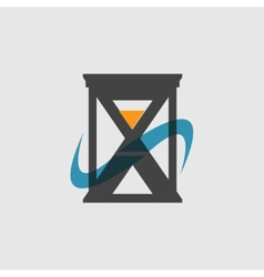 Modern flat icon of hourglasses vector image