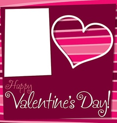 Cut out retro valentines day card in format vector