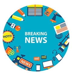 Breaking news emblem vector