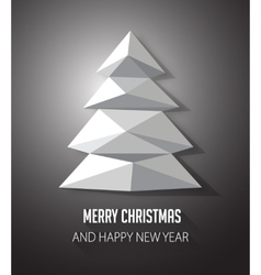 Christmas tree made with geometrical abstract vector