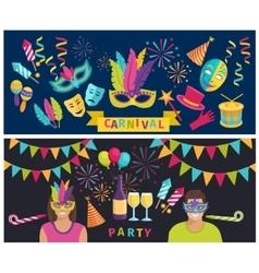 Carnival elements banner vector