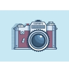 Camera retro flat design vector