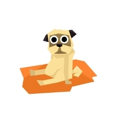 Small pug dog vector