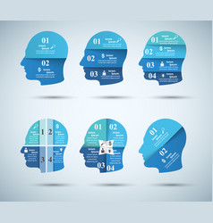 Abstract 3d digital infographic head vector