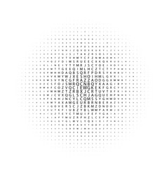 Abstract black and white deco art print halftone vector