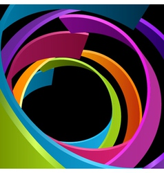 Abstract circle rings background vector image vector image