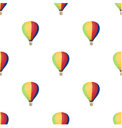 Airballoon icon in cartoon style isolated on white vector