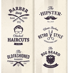 Barber shop emblems 1 vector