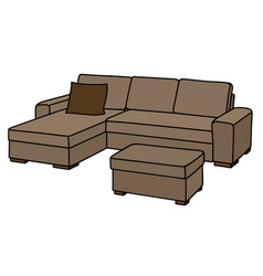 Big beige couch vector