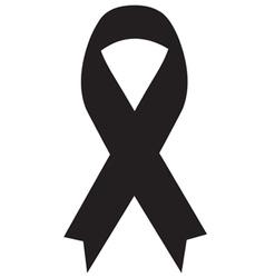 Black ribbon icon vector