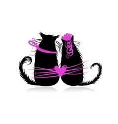 Couple of cats in love vector image