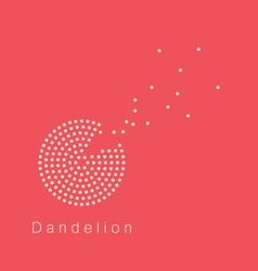 Dandelion logo vector image vector image