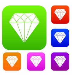diamond set collection vector image vector image