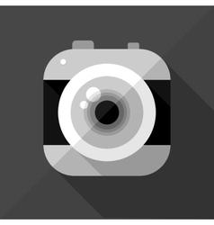 Flat camera icon vector