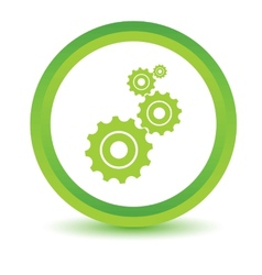 Green mechanism icon vector image