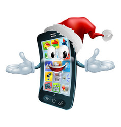 Happy christmas cell phone vector