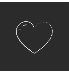 Heart drawn in chalk vector