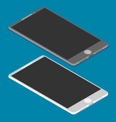 isometric icon of mobile phone in flat style vector image vector image