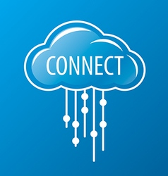 Logo rain cloud network vector