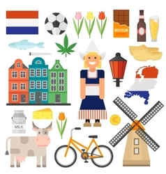Netherlands set vector image