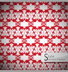 red mesh geometric seamless pattern vector image