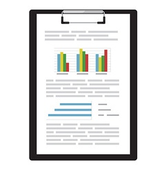 Report with graphs vector image