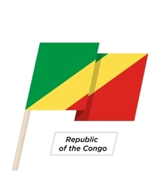 Republic of the congo ribbon waving flag isolated vector