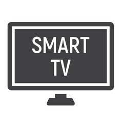 Smart tv solid icon household and appliance vector