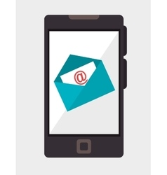 Smartphone email mail communication vector