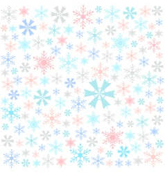 Snowflake merry christmas card vector image vector image