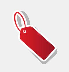 tag sign new year reddish vector image
