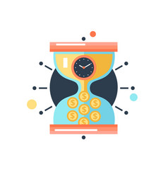 time money conceptual metaphor icon vector image vector image