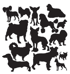 Decorative dogs vector