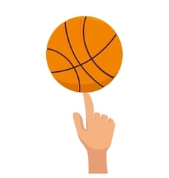 Basketball ball sport finger vector