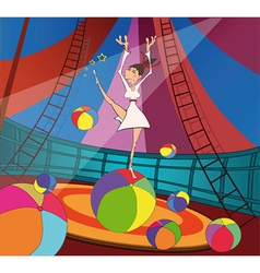 The gymnast and circus vector